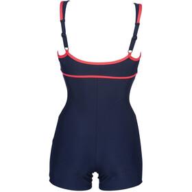arena Venus Combi Swimsuit Women navy/fluo red/neon blue